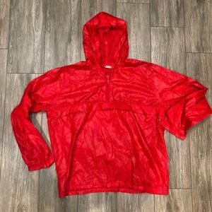 Vintage 90s Levi's Red Windbreaker Pullover Jacket